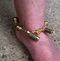 Wired beaded anklet
