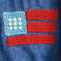 Kid's Crocheted Flag Jacket