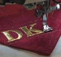 VIDEO:  Monogramming with Kreinik Metallic Threads