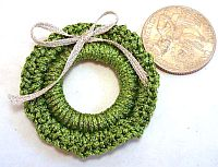 Miniature Crocheted Wreaths