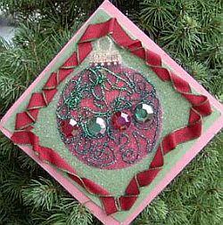 Beaded Paper Ornament