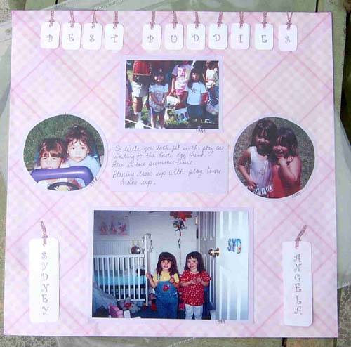 Best Buddies Scrapbook Page