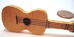 Miniature Wooden Guitar