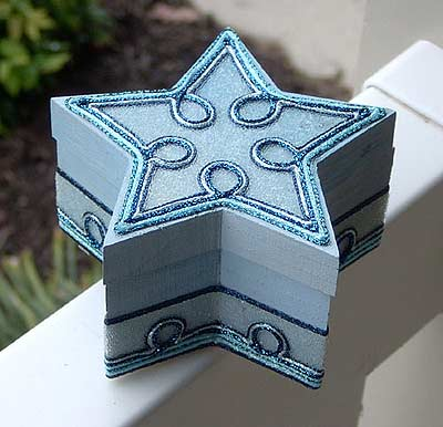 Beaded Blue Star Box