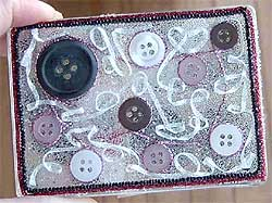 Beaded Button Box
