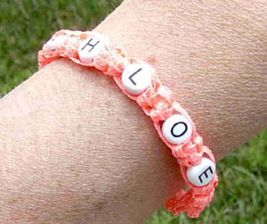 Glow-in-the-dark Name Bracelet