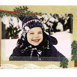 Beaded Winter Scrapbook Photo