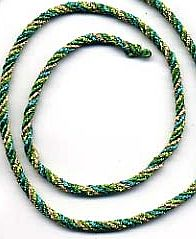 Twisted cording using 4 colors