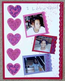 """I Love You"" Scrapbook Page"