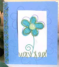 Blue Flower Power Card