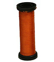 Silk Couching Thread Red/Orange 50M