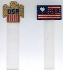 American Flag and Eagle Bookmarks