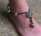 Hot-wired beaded anklet
