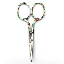 "X306S Summer Fun 3.5"" Embroidery Scissor, Serrated Blades"