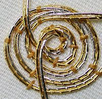 Glorious Goldwork: The ins and outs of Passing Thread