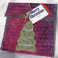 Recycled fabric gift envelope