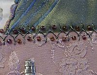 Using Kreinik metallic threads for crazy quilt embroidery