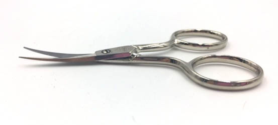 X357CS Curved Embroidery Scissors Serrated Blades