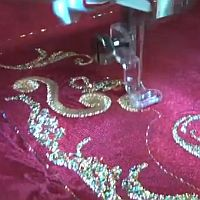 VIDEO:  Digitized Embroidery - Christmas Placemat