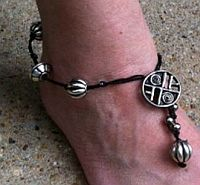 Wired Braid beaded anklet
