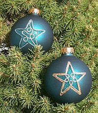 Beaded Glass Ornaments