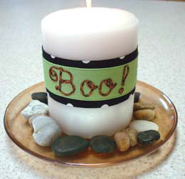 Easy Halloween Decorative Candle