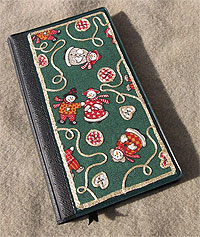 Embellished Fabric Book Cover