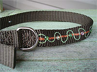 "Easy ""bejeweled"" dog or cat collar"