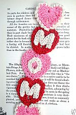 MOM Crochet Bookmark