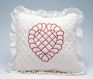 Feathered Heart Pillow