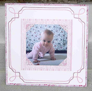 Pretty in Pink Scrapbook Page