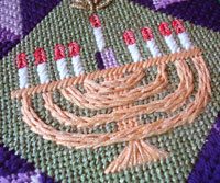 Stitch Guide for Quilt Block Menorah