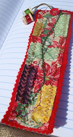Crazy Colorful Fabric Bookmark