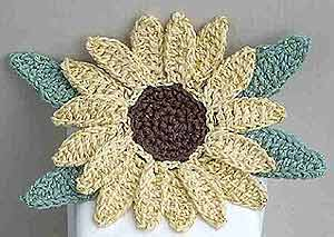July's Sunflower in Crochet