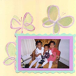 My Butterflies scrapbook page