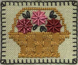 Silk Basket Sampler Pin