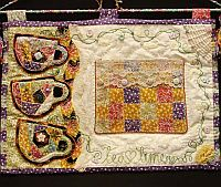 Crazy Quilt Teacup Wall Hanging