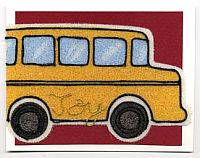 Back To School Cards:  Beady Bus