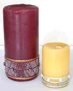Beaded Candle Technique