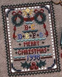 Christmas Sampler in Silk