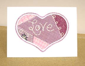 """Quilted"" Heart Card"