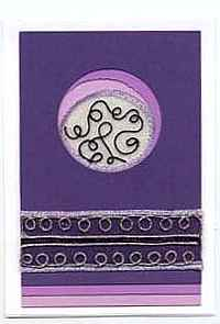 Purple Circles Card