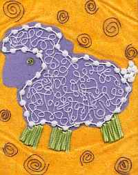 Baby Sheep Quilt Block