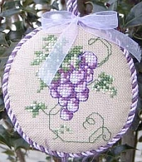 Frosted Grapes Ornament