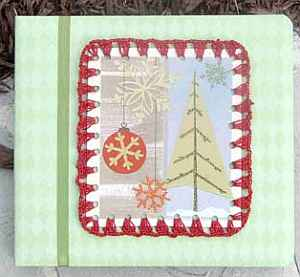 Recycled Cards in Crochet