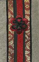 Iron-on Brocade Bookmark