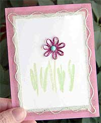 Pretty In Pink Flower Card