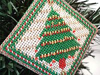 Needlepoint Christmas Tree Ornament