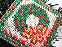Needlepoint Wreath Ornament